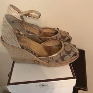 Coach Kimmy Espadrille Signature Wedges